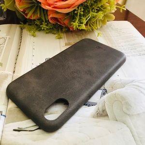 Accessories - For IphoneX Luxury Leather Case in Dark Brown